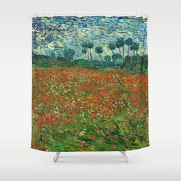 Vincent Van Gogh Poppy Field Shower Curtain