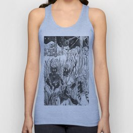 Winter  Hunting (Plain Ink) Unisex Tank Top
