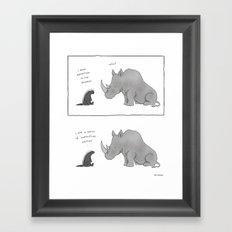 Honey Badger Don't Care  Framed Art Print