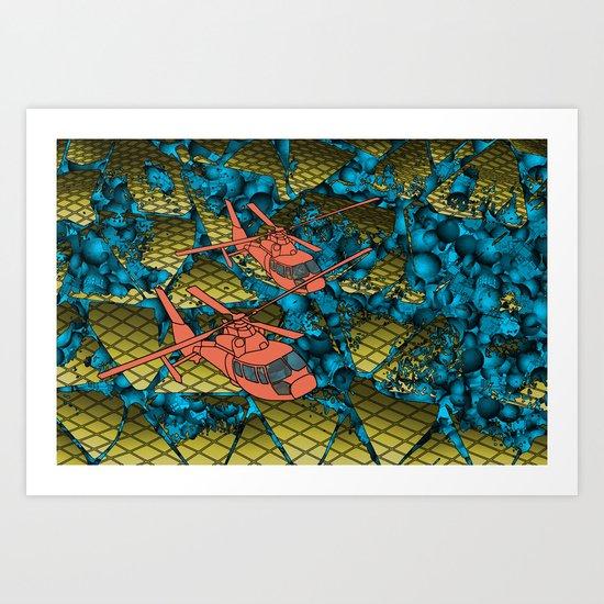 In The Scratch Art Print