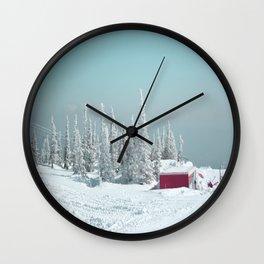 Winter day Wall Clock