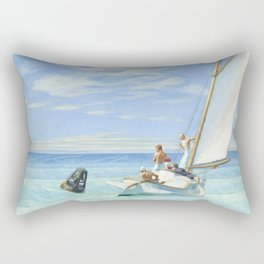 Edward Hopper Ground Swell 1939 Painting Rectangular Pillow