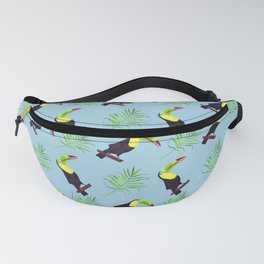 tropical pattern 2 blue Fanny Pack
