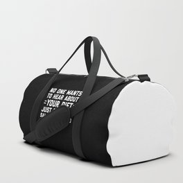 Your Diet Funny Quote Duffle Bag