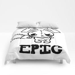 Epic Grumpy Voodoo Bunny Cute Bigfoot Monsters Comforters