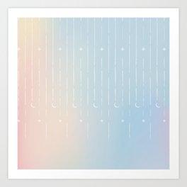 Stars & Moons Art Print