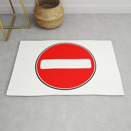 No Entry Sign Rug