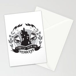 I Party with the Wizards Stationery Cards