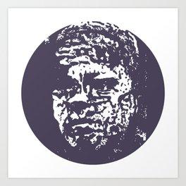Faces, 5 Art Print