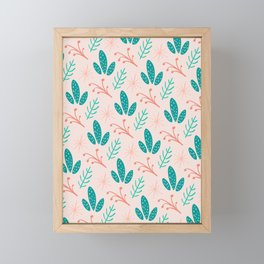 Desert Floral Pattern Print Framed Mini Art Print