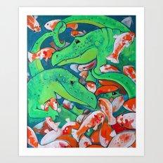 CROCODILE SMILE Art Print