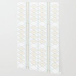 Gold Aqua Geometric Pattern 1.0 Wallpaper