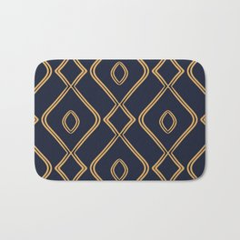 Modern Boho Ogee in Navy & Gold Bath Mat