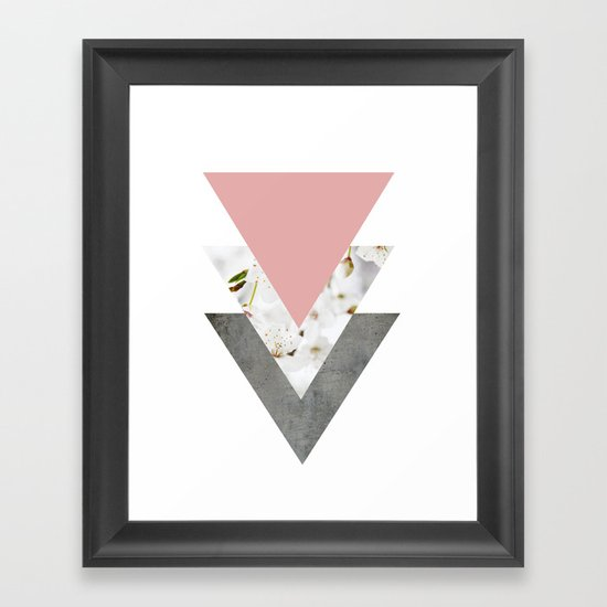 Blossoms Arrows Collage Framed Art Print