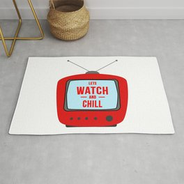 Television lets watch and chill Rug