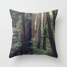 The Redwoods at Muir Woods Throw Pillow