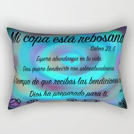 Espiral colorido - Salmo 23, 5 Rectangular Pillow