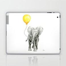 Elephant Watercolor Yellow Balloon Whimsical Baby Animals Laptop & iPad Skin