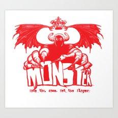 Game monster  Art Print