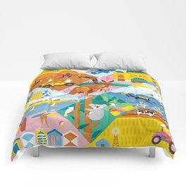 Travel To Australia Comforters