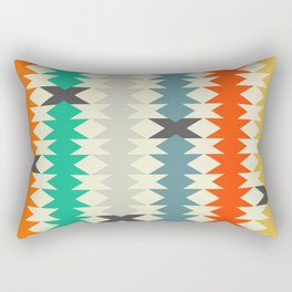 Colorful triangles and diamonds Rectangular Pillow