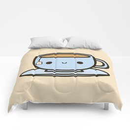 Cute cup of tea Comforters
