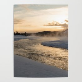 Yellowstone National Park - Sunrise along the Madison River Poster