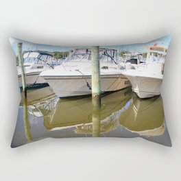 Boat Reflections Rectangular Pillow