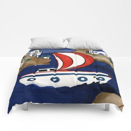 Journey to Greece Comforters