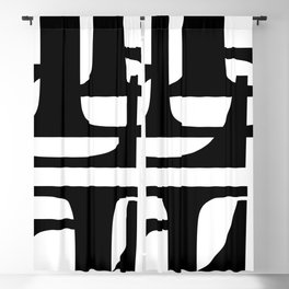 Hidden Letters. Baskerville L Blackout Curtain
