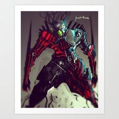 Pike Machina Reptilia Art Print