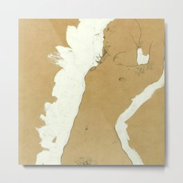 "Egon Schiele ""Female Nude with White Border"" Metal Print"