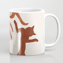 Abstract Lazy Cats Coffee Mug