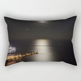 Navy Pier Moonlight Rectangular Pillow