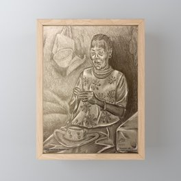 Lee (Leigh) The Straw Market Lady Framed Mini Art Print