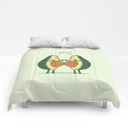 Impossible hug Comforters