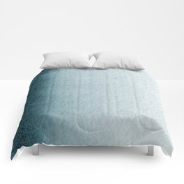 Teal Vertical Blur Abstract Art Comforters