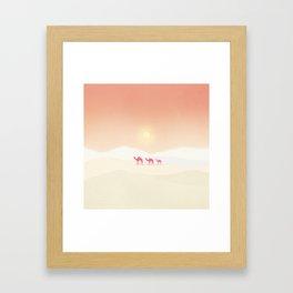 Minimal desert Framed Art Print