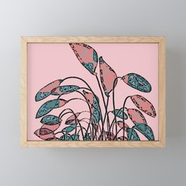 Camouflage Foliage Framed Mini Art Print