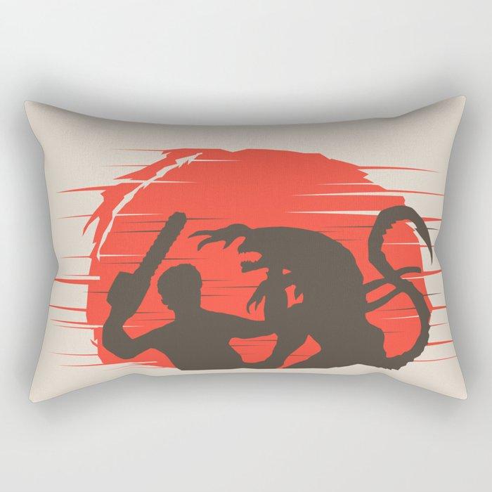 Ash vs Aliens Rectangular Pillow