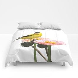Goldfinch in the Garden Comforters