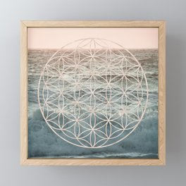 Mandala Flower of Life Sea Framed Mini Art Print