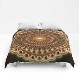 Patterns mandala in earth tones Comforters
