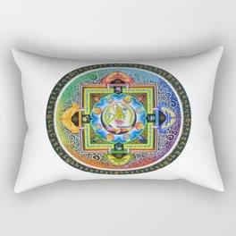 Thang-ga of Green Tara Rectangular Pillow