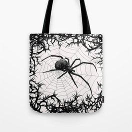 Briar Web- Black and White Tote Bag