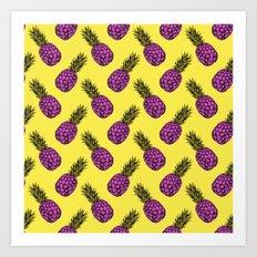 Neo-Pineapple - Pineapple Punch Art Print