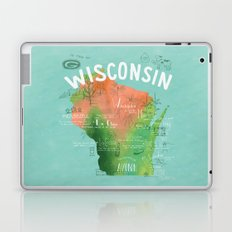 Wisconsin Map Laptop & iPad Skin