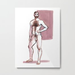 TEX, Nude Male by Frank-Joseph Metal Print