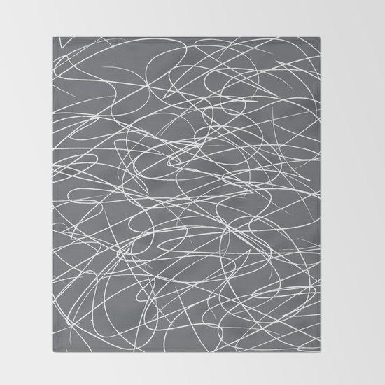 Hand Drawn Scribbles (Charcoal Grey) by designmindsboutique