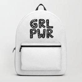 GRL PWR Girl Power Typography Art Backpack